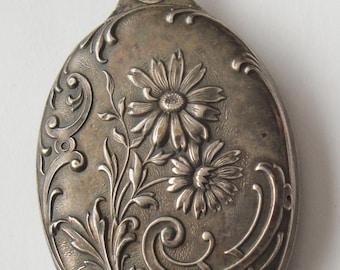 Antique Ornate Locket With Mirror