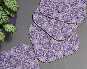 Purple Symmetry Pattern Coasters SALE WAS 13.00