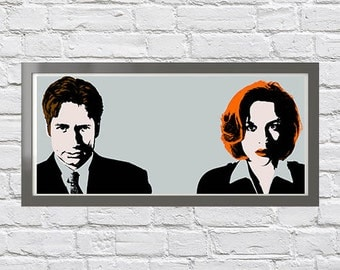 Mulder and Scully pop art print