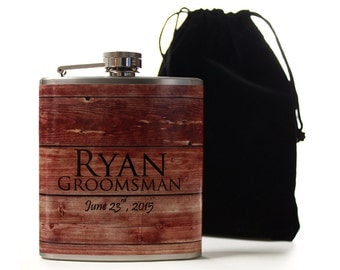 Outdoor Wedding Party Gifts, Personalized Flasks for Groomsmen and Best Men