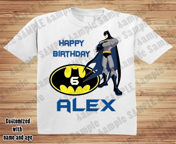 Personalized Batman Birthday Shirt 2 - tshirt custom Comic Super Hero