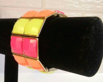 Neon Color-Block Bangle