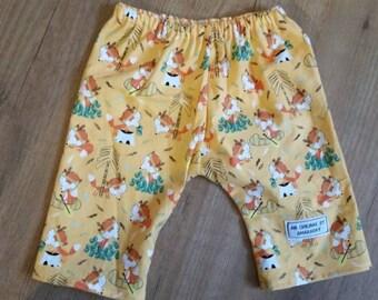 Baby Boy's Trouser's handmade from Cute Fox Fabric