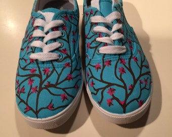 Custom, Hand Painted Arizona Green Tea inspired Shoes- Personalized to any design, college, or character(s) you want