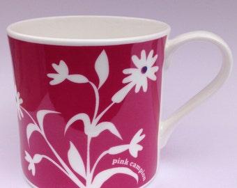 Pink Campion | Cornwall Hedgerow | Fine Bone China Mug | Alison Bick