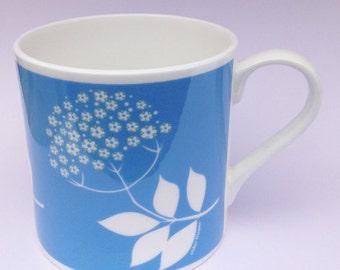 Elderflower | Cornwall Hedgerow | Fine Bone China Mug | Alison Bick