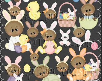 AA Baby's First Easter - CU Clipart