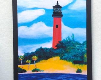 Jupiter Lighthouse Embellished Print