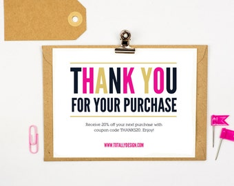 Thank you for your purchase Printable INSTANT DOWNLOAD - Freshly Modern