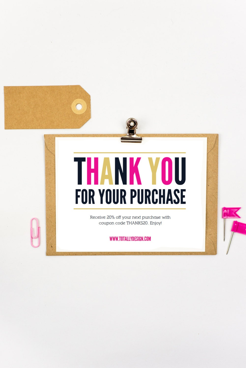 Thank You For Your Purchase Printable Instant Download