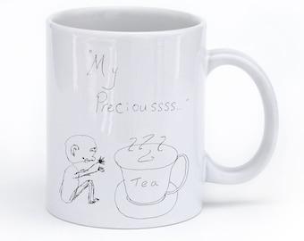 Tea My Precioussssss  Gollum LOTR Coffee Mug