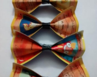 Fire and Fighting Type Pokemon Card Hair Bow