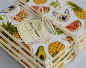 Ceramic Tile Coasters - Cats Heads, Pineapples & Watermelons 042