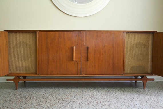 Mid Century Media Console Vintage 1950s Stereo