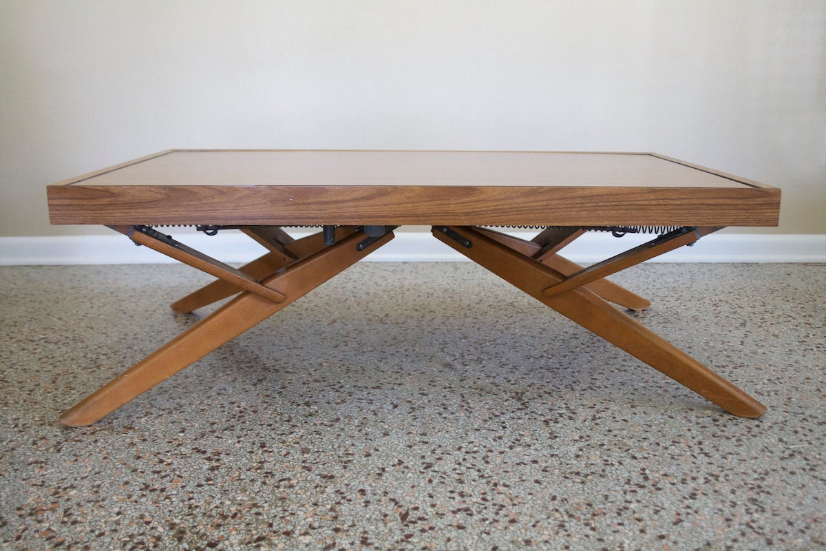 Vintage Castro Convertible Adjustable CoffeeSideDining Table