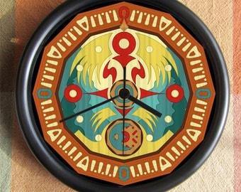 LEGEND of ZELDA CLOCKTOWN Majoras Mask Blue Big 10 inch black wall clock clock town  Ships Tomorrow