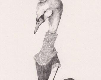 """Dear Swan - 8""""x11"""" Archival Art Print"""
