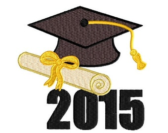2015 Graduation Machine Embroidery Pattern