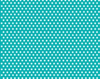 Teal with white mini polka dots craft  vinyl sheet - HTV or Adhesive Vinyl -  polka dot pattern HTV2302