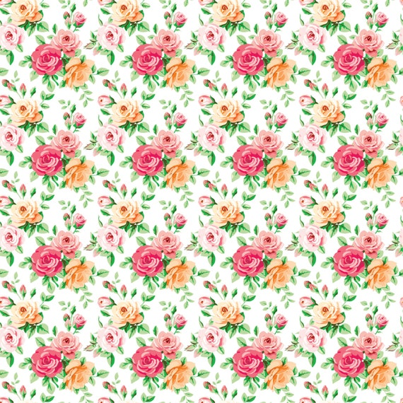 Rose Floral Heat Transfer Vinyl Sheet With By