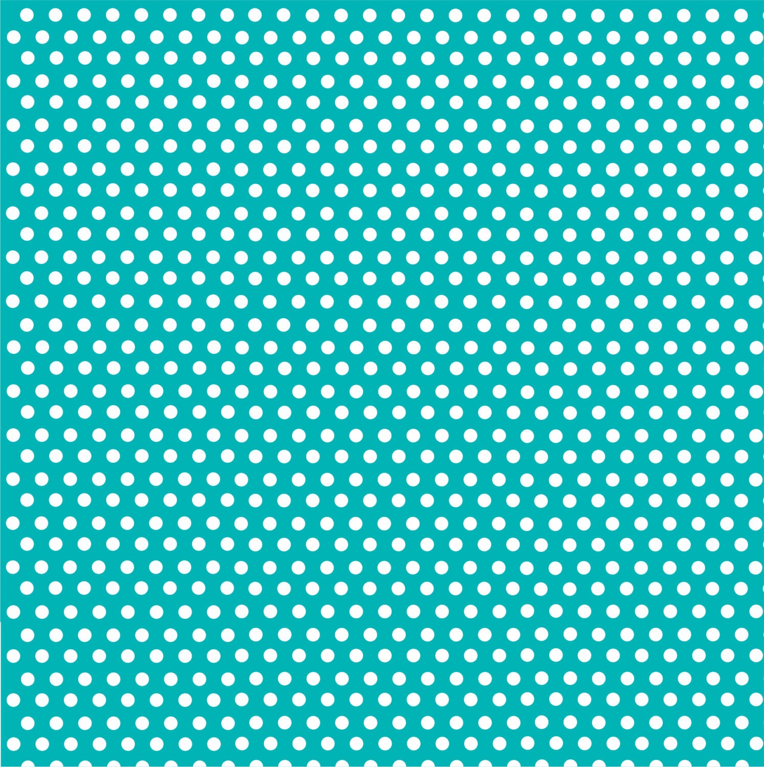 Teal With White Mini Polka Dots Heat Transfer Or Adhesive