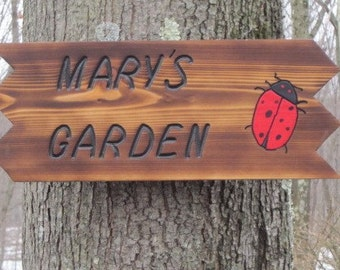 Personalized garden sign Etsy
