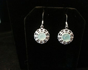 Antiquities Collection - Aqua or Pink Chalcedony Earrings