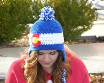 Adults CoLoRaDo Crochet Earflap Hat