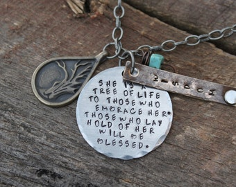 Proverbs 3:18  Tree of life necklace