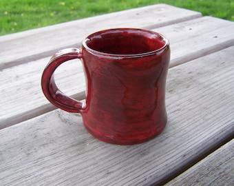 "hand made pottery mug, fired to cone 6 , stoneware coffee mug 3"" x 3"""