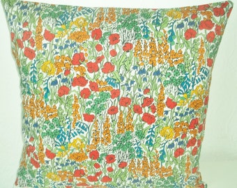 "Liberty of London Tana Lawn fabric cushion cover, pillow cover, 16"" x 16"" (41cm x 41cm)"