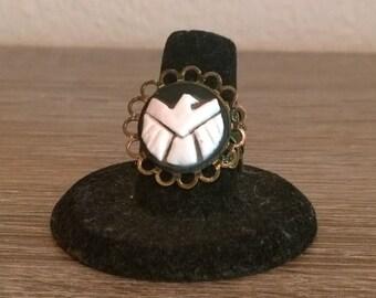 Shield Cameo Ring