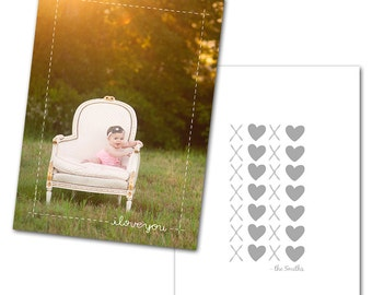Sweetly Subtle Card 3 - Designed Photoshop Template for Custom Photography Cards
