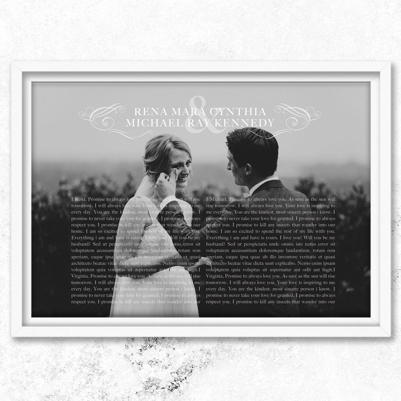Wedding Vow Gifts: 1st Anniversary Gift Vows Wedding Vows 1st Wedding