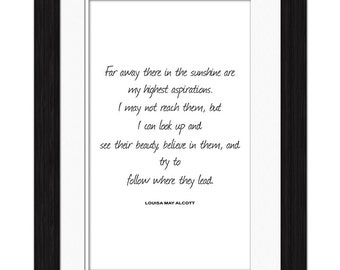 Louisa May Alcott Quote - Far Away