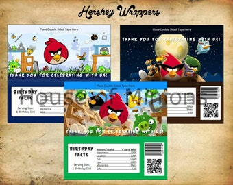 Angry Birds Hershey Wrappers - Digital File