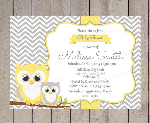 Items similar to Owls Baby Shower Invitation Printable Gender