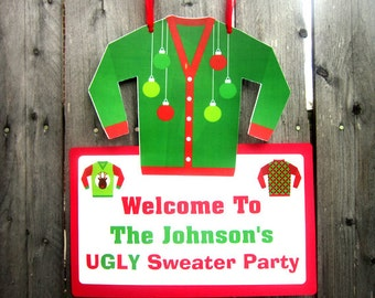 Ugly Sweater Party Sign - Ugly Sweater Party - Ugly Sweater Party Decorations