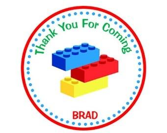 Building Blocks Birthday Favor Tags - Building Blocks Party Favor Tags