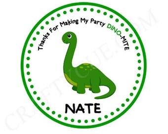 Dinosaur Birthday Favor Tags - Dinosaur Party Favor Tags