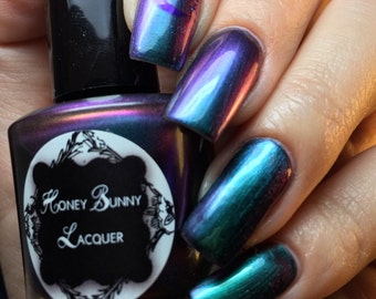 Witchy Woman - 7mL - Mini multichrome polish - green - purple - blue - magenta - color shifting nail polish