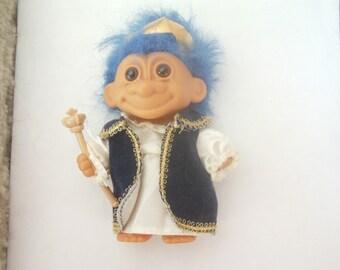 Vintage Wizard Troll / Magician Troll / Wizard Doll / Cute Troll / Designer Troll / Russ Troll / Free Shipping!