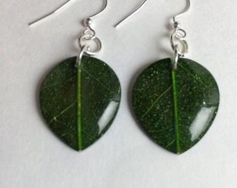 Leaf earring set