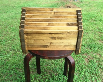 Handmade wooden gem box for jewelry/storage