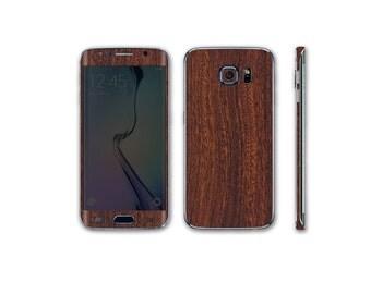 Samsung Galaxy S6 Edge Full Body Wrap DECAL Sticker Skin Kit Wood Series by Stickerboy-Set 3