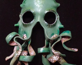 Leather Octopus Mask: Bearded