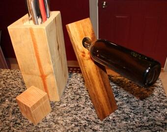 Single bottle wine holder