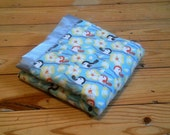 Beautiful Bird and Yellow Minky Baby/Toddler Blanket