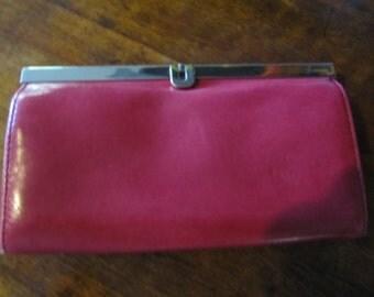 Vintage Red Pleather Pocket Book