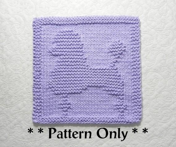 POODLE Dog Knit Dishcloth Pattern Instant Download Knit